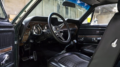 1968 Green Mustang Bullit Fastback Interior Cabin