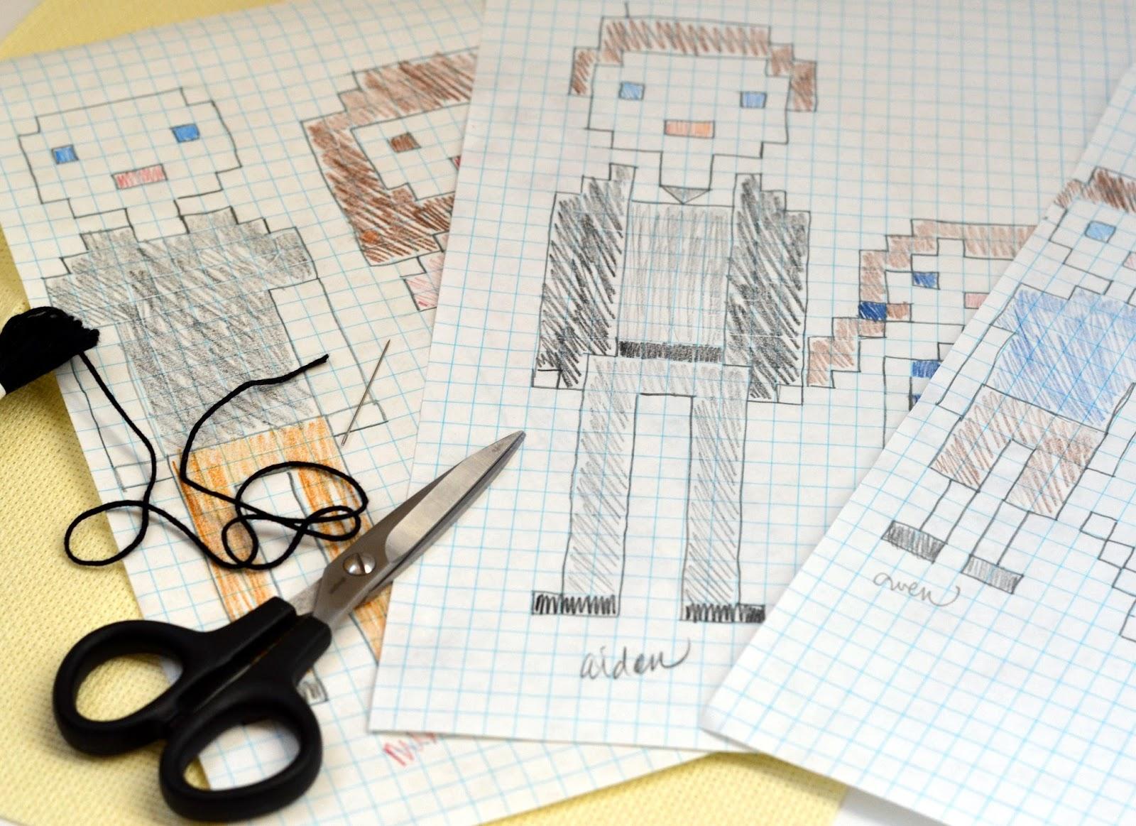 Cross stitch family portrait rachel teodoro using graph paper to create cross stitch pattern solutioingenieria Gallery