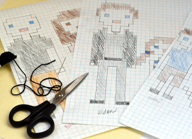 using graph paper to create cross stitch pattern