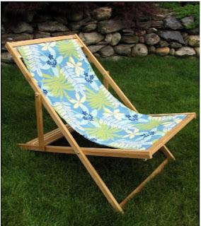 cómo hacer una silla playera con tela toalla lona