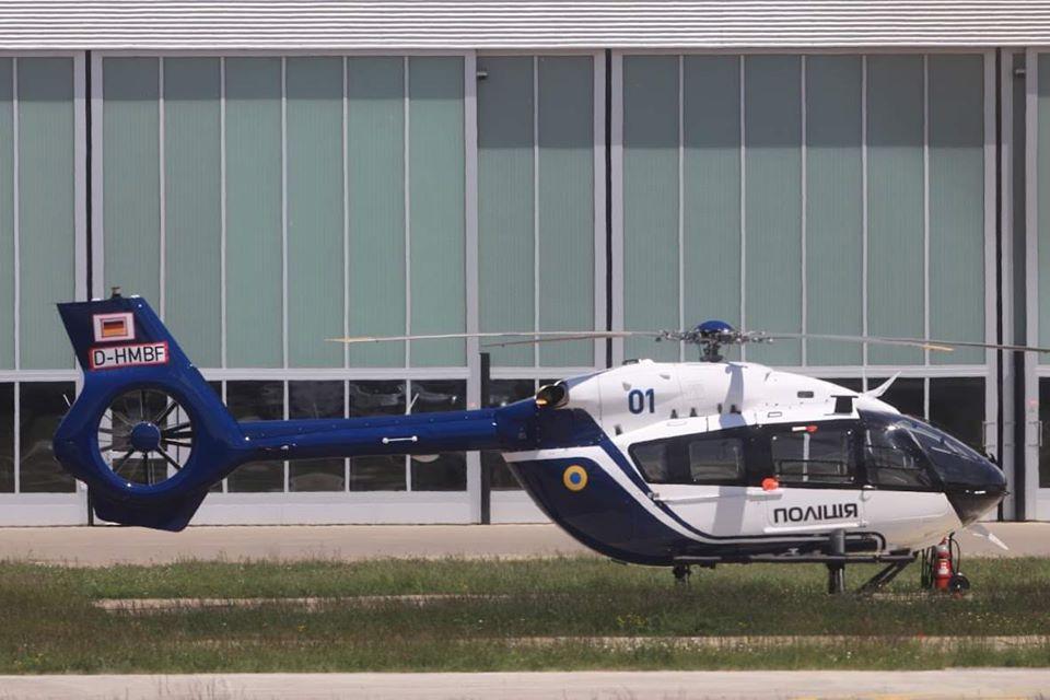 Перший гелікоптер Н145 для української поліції