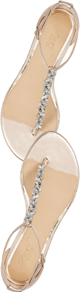 JEWEL BADGLEY MISCHKA Carrol Embellished T-Strap Sandal