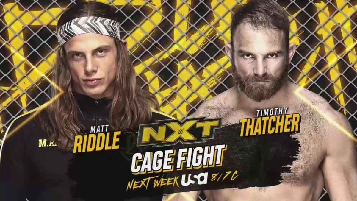 WWE divulga novas imagens da cage para o combate de Timothy Thatcher e Matt Riddle