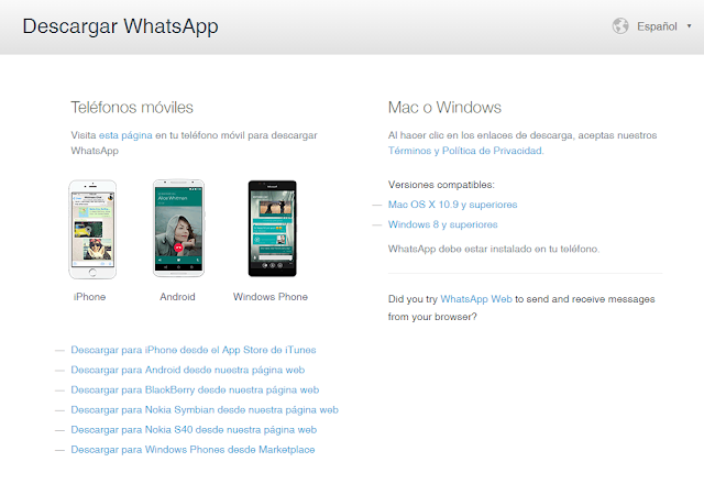 WhatsApp ya esta disponible para Windows y Mac OS
