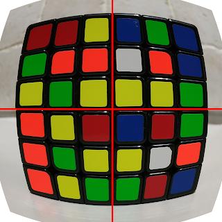 Rubik's cube fish-eye
