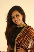 Lasya looks super cute in black choli Saree at Raja Meru Keka Press Meet ~  Exclusive 084.JPG