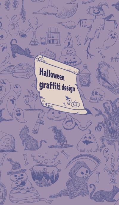 Halloween graffiti design