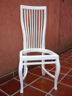 laqueação cadeira, laka branca