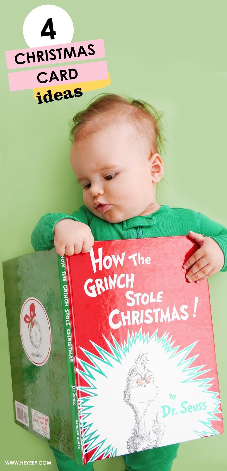 4 Easy Christmas Card Photos For Babies Hey Eep