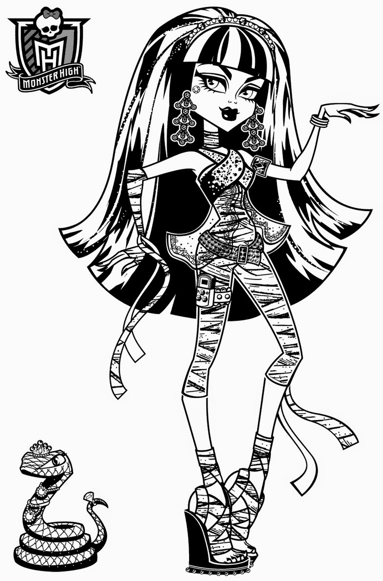 Monster High Printables - Coloring Home | 1191x786