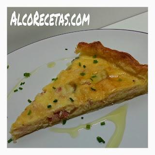 Quiche de jamón y quesos