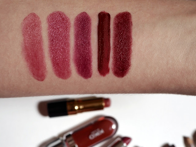 lipstick, liquid lipstick, lip liner and balms collection 2017, berry lipsticks