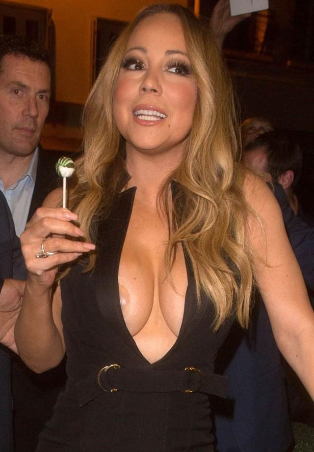 El pecho de Mariah Carey