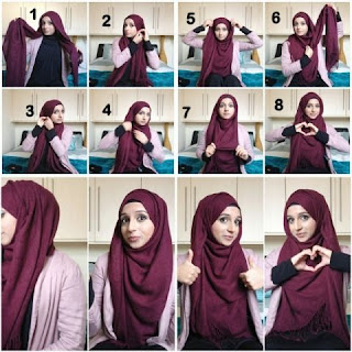 Tutorial Jilbab Segi Empat Panjang