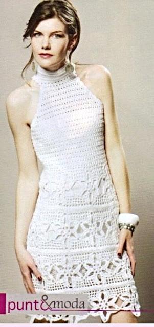 Patrón #1376: Vestido a Crochet