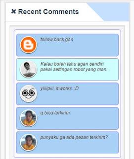 Cara Memasang Recent Comments Keren untuk Blog Anda