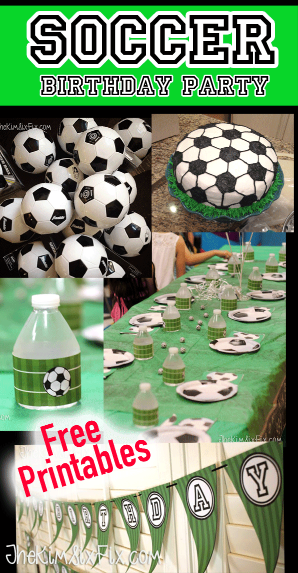 graphic relating to Soccer Printable named Football Birthday Social gathering (and Free of charge Printables) - The Kim 6 Repair service