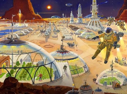Mars colony by Robert McCall