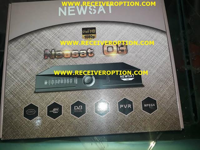 NEWSAT O3 HD RECEIVER POWERVU KEY NEW SOFTWARE