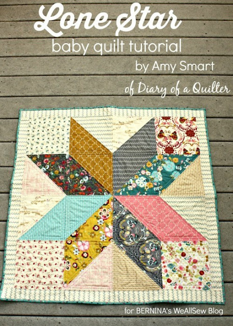 Lone Star baby quilt tutorial from Diary of a Quilter