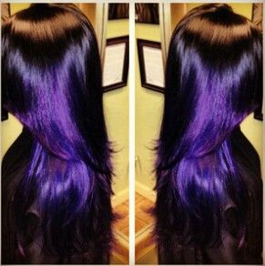Groovy Black Amp Purple Hairstyles A Gorgeous Combination Hairstyles For Women Draintrainus