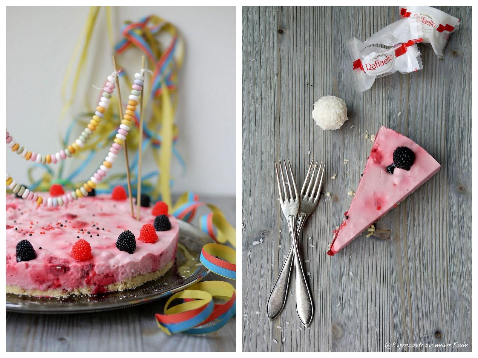 Experimente aus meiner Küche: Raffaello-Himbeer-Torte ohne Backen