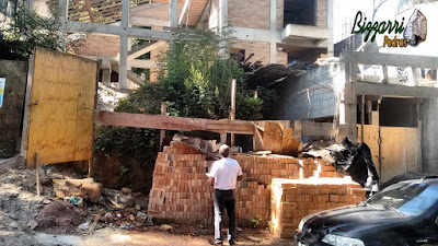 Bizzarri, da Bizzarri Pedras, visitando uma obra onde vamos fazer a execução do muro de pedra, escada de pedra, revestimento de pedra e as bases de pedra em casa em condomínio em Mairiporã-SP. 07 de novembro de 2016.
