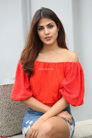 Rhea Chakraborty in Red Crop Top and Denim Shorts Spicy Pics ~  Exclusive 324.JPG