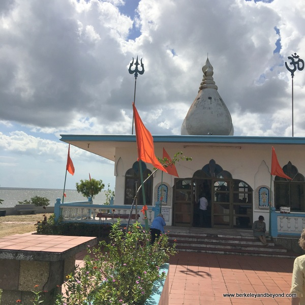 exterior of Temple in the Sea at Waterloo in Carapichaima, Trinidad