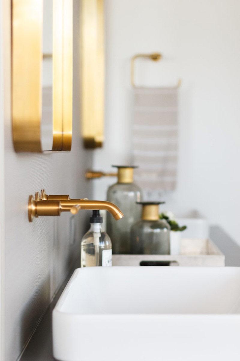 rubinetti bagno finitura cromo dorato
