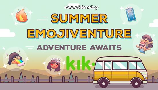 Summer Emojiventure para Kik