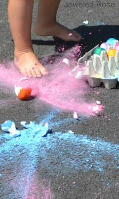 Sidewalk smoke bombs- a super fun way to make sidewalk art