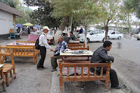 Uzbekistan, Fergana, Bozorboshi Street, topchan, © L. Gigout, 2012