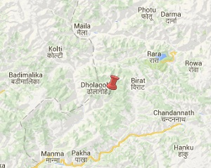 Earthquake epicenter map of Kalikot, Nepal
