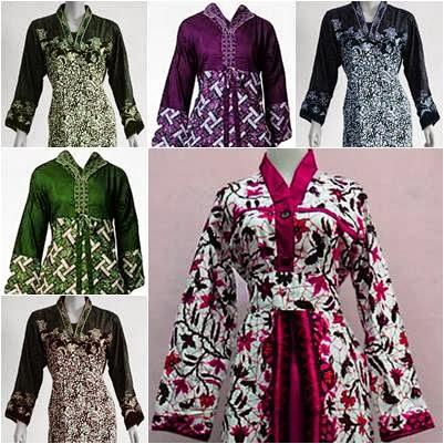 Model Baju Batik Gamis Muslimah Untuk Lebaran Busana Muslim