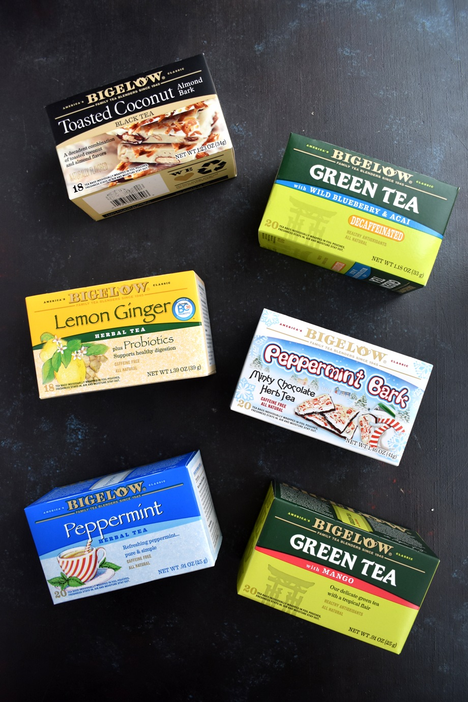 A variety of Bigelow Teas