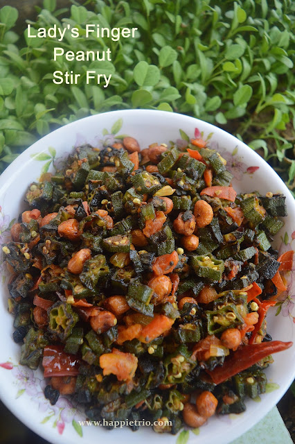 Lady's finger Peanut Stir Fry | Bhindi Peanuts Stir Fry