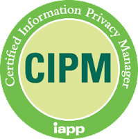 "IAPP CIPM logo - green circle with white text ""CIPM IAPP"""