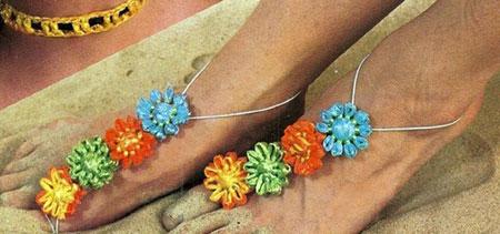 adornos, flores, telar, pies, bisutería, manualidades