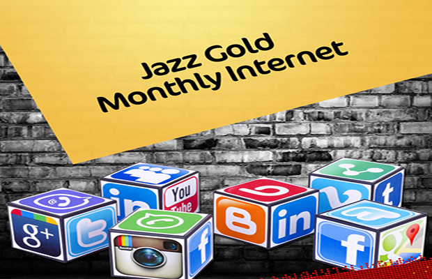Jazz Gold Monthly Internet Prepaid 3G Offer for Prepaid and Postpaid Users