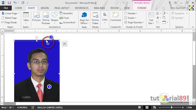 Cara mengganti background pas foto di word dan save ke JPG
