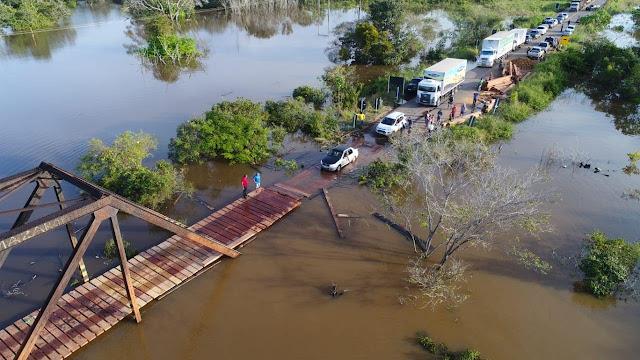 Ponte do Araras continuará interditada nesta quinta-feira