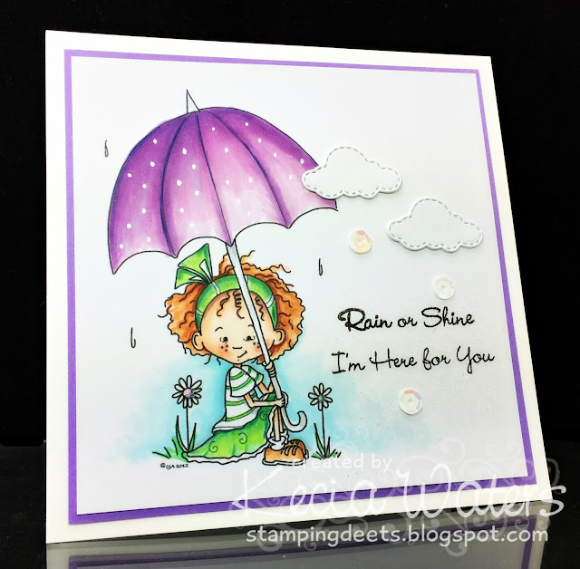 Sassy Cheryl's, Kecia Waters, Copic markers, encouragement, umbrella