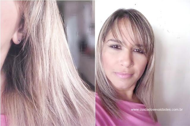 Antes e depois Shampoo Violeta Chardonnay Acquaflora