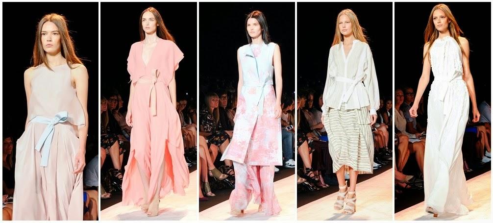 21ad91d909 Pasztel színek gazdag skálájában pompáznak a ruhák. Nőies, könnyed  elegancia jellemzi az egész kollekciót.