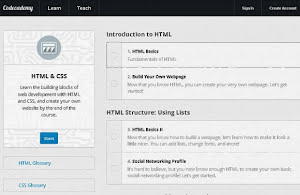 Codecademy CSS and HTML course