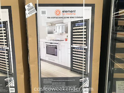 Costco 1100155 - Vinotemp EL-155BSH 155 Bottle Dual-Zone Wine Cooler: great for any wine lover