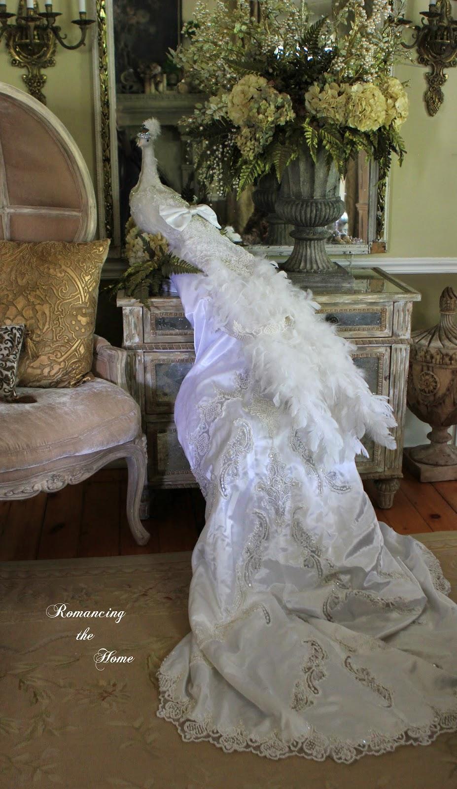 3e540768aa4 Romancing the Home  White Peacock Wedding Escort Card Table