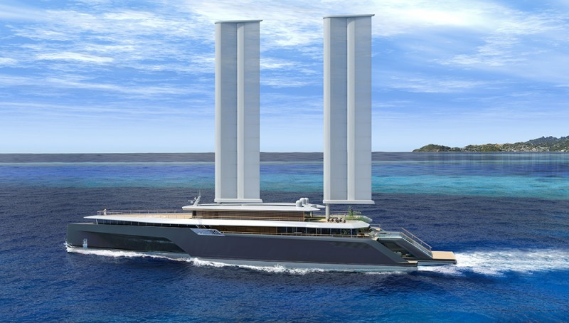 Passion for luxury komorebi trimaran superyacht concept for Small luxury hotel 7 little words