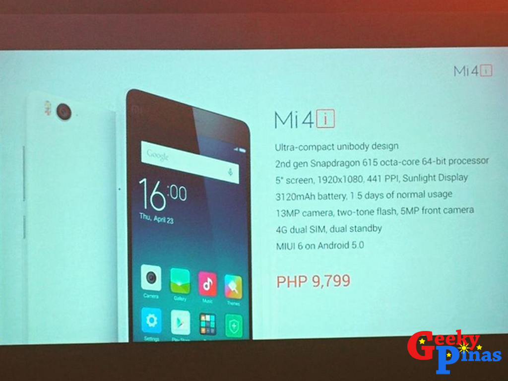 Xiaomi Outs Mi 4i In The Philippines, Priced At Just PHP 9,799!